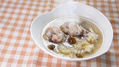 6)本格的な料理が自宅で簡単に!参鶏湯風スープ