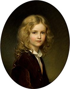 ヨーゼフ・ノイゲバウアー 《リヒテンシュタイン侯フランツ1世、8歳の肖像》 1861年
