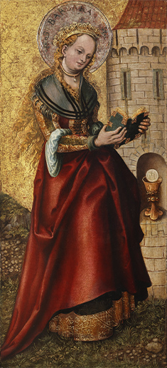ルーカス・クラーナハ(父) 《聖バルバラ》 1520年以降
