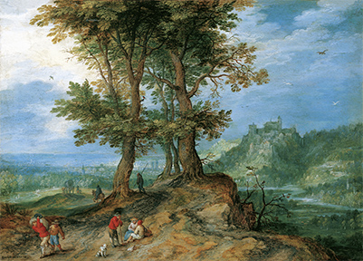 ヤン・ブリューゲル(父) 《市場への道》 1604年