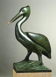 《ペリカン》 ブロンズ 1924年 ディジョン美術館蔵(国立自然史博物館寄託)