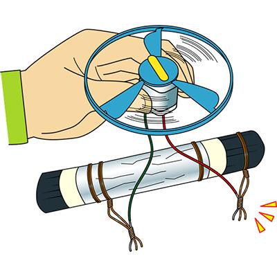 備長炭電池の作り方