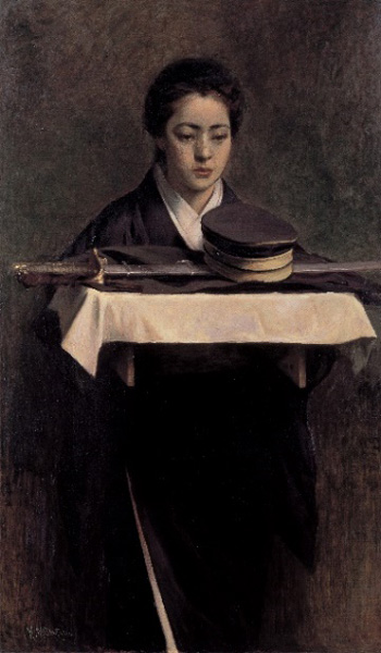 満谷国四郎 《軍人の妻》1904年