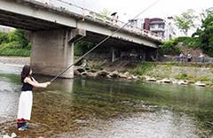 鴨川鮎釣り