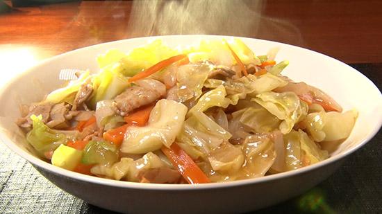 餃子の皮麺の皿うどん