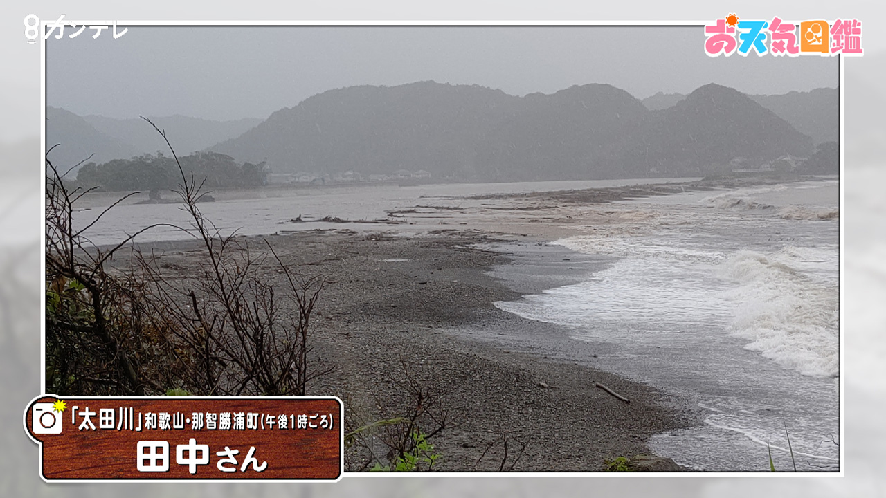 「記録的な大雨」(和歌山・那智勝浦町)