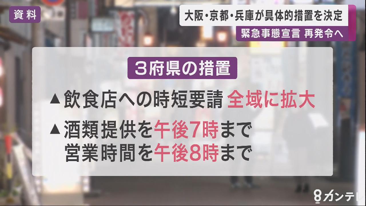 京阪神に「緊急事態宣言」再発令へ…3府県で発令時の具体的措置を決定