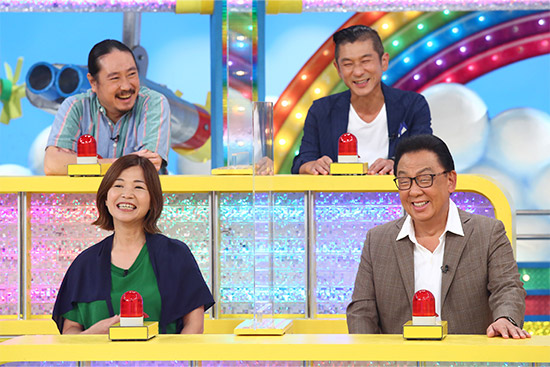 笑い飯 下段左から)大久保佳代子、梅沢富美男